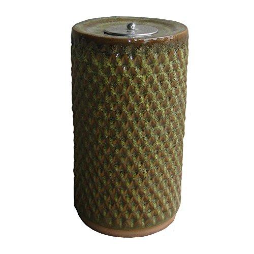 Smart Garden 215088-13SG Apollo Ceramic Garden Torch, 13-Inch, Sierra Garden Green Glazed Finish, Includes Stainless Steel Flame Snuffer