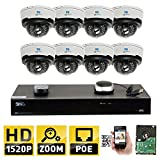 GW Security 8CH H.265 4K NVR 4-Megapixel (2592 x 1520) 4X Optical Zoom Network Plug & Play Video Security System, 8pcs 4MP 1520p 2.8-12mm Motorized Zoom POE Weatherproof Dome IP Cameras For Sale