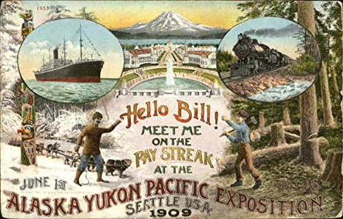 Hello Bill  Meet Me In The Pay Streak At The Alaska Yukon Pacific Exposition Original Vintage Postcard