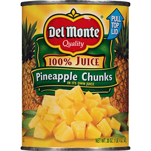 Del Monte Canned Pineapple Chunks in 100% Juice, 20-Ounce (Pack of - Pineapple Chunks Dole