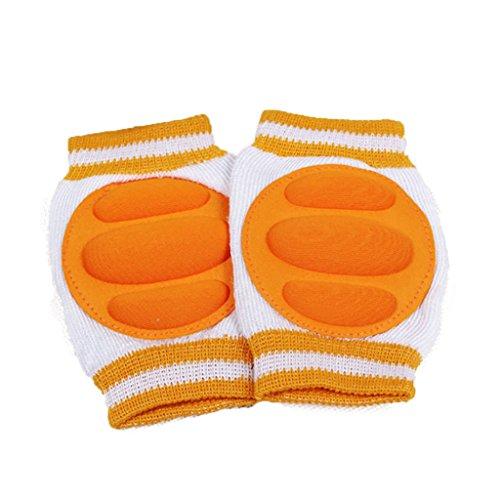 Baby Crawling Knee Pads Cotton Elbow Cushion (Orange) - 5