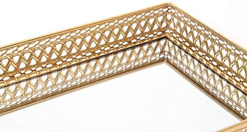 High Quality Polished Gold Silver Coloured Jewellery Display Platter Plate Tray