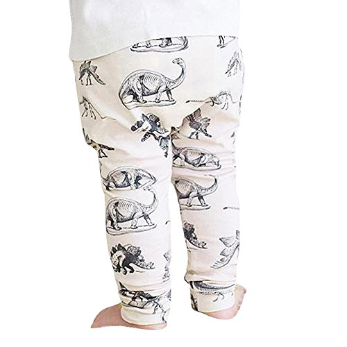 Elastic Baby Pants,HotMoon Dinosaurs Print Long Pants Lovely Harem Trousers for Toddler Kid Boy (12-18 M)