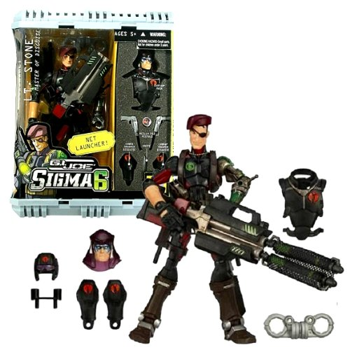 - Hasbro Year 2006 G.I. JOE Sigma 6 Classified Series 8 Inch Tall Action Figure - Master of Disguise LT. STONE with Zartan Mask, Cobra Uniform, Cobra Leg Cover, 2 Pistols, Handcuff, Net Launcher, Net Missile and Weapons Case