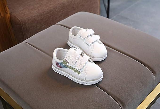 YanHoo Zapatos para niños Calzado Brillante LED Masculino y Femenino Zapatillas de Skate para niños pequeños Zapatos de bebé para niños Zapatillas de ...