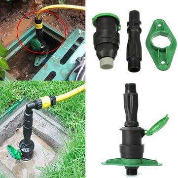 3/4 pulgadas jardín riego terreno Válvula de toma de agua rápida Conector Rápido Manguera..: Amazon.es: Jardín