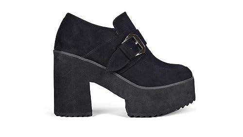 83af76c46 Bosanova Zapato Abierto con Suela Volumen para Mujer: Amazon.es ...