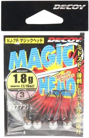 9 grams Decoy VJ-76 Jig Head Magic Head Hook Size 1 7826