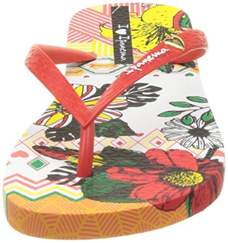 Ipanema I Love Tribal Fem - Sandalias de dedo Mujer Blanco (White/Red)
