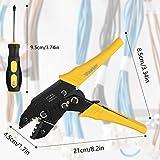 Vastar 2 in 1 Crimping Tool - Crimping Pliers, Wire