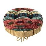 Southwest Phoenix Sunset Round Padded Bar Stool Cover with Adjustable Drawstring Yoke - Latex Foam Fill Barstool Cushion