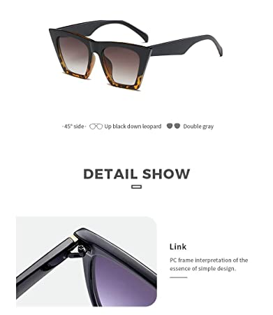 Amazon.com: BranXin - Luxury Oversized Square Sunglasses ...
