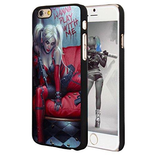"Onelee Harley Quinn Custom Phone Case for iPhone 6 4.7"", DC comics Harley Quinn Customized iPhone 6 4.7"" Case, Only Fit for Apple iPhone 6 4.7"" (Black Hard Shell)"