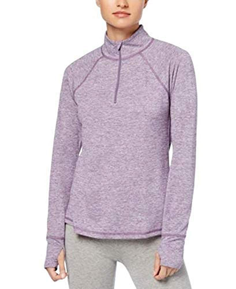 Ideology Womens Essential Fitness Running 1//4 Zip Pullover Purple M