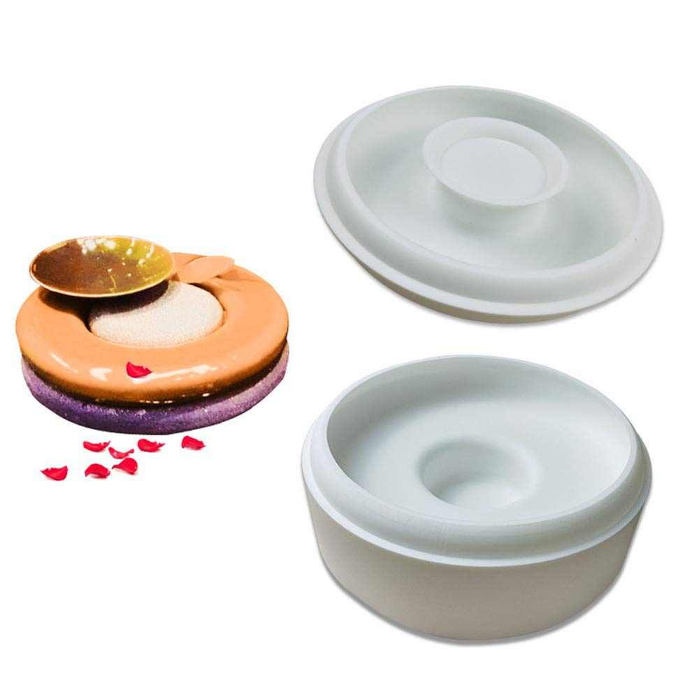 Food Grade Silicone Mold, Creative Button Mousse Cake Mold Two-piece, Non-stick Easy To Take Off Chocolate   Cake French Dessert Mold - Does Not Contain BPA