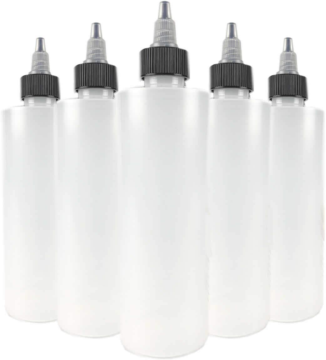 Hobbyland Squeeze Bottles with Twist Cap (8 oz, 6 Bottles) by Hobbyland