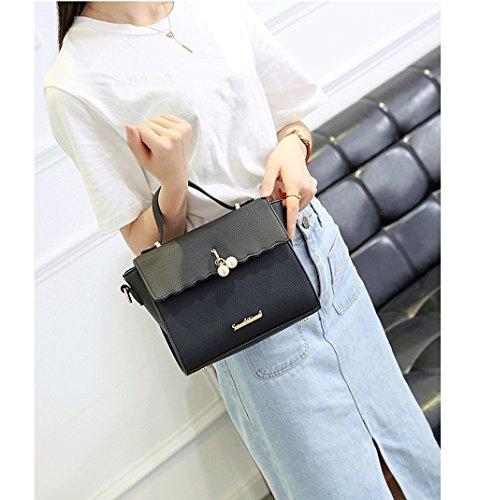 Handbag Nuevo Bolso de Hombro, Bolso de Las Señoras, Bolso del Mensajero, Bolso Coreano Salvaje, Bolso de la Manera. A+ (Color : Blue) Black