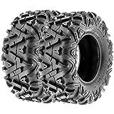 SunF 25x10-12 25x10x12 ATV UTV A/T Replacement Race 6 PR Tubeless Tires A033 POWER I, [Set of 2]