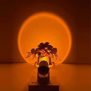 Sunset Rainbow Projector Night Light Modern Romantic Sunset Floor Lamp for Kids Bedroom Decor, LED Network Red Light with 180 Degree Rotate-able & Angle Adjustable (Sunset)