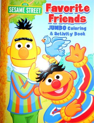 Sesame Street Elmo Jumbo Coloring Book - Favorite Friends - Giant Elmo Coloring Book
