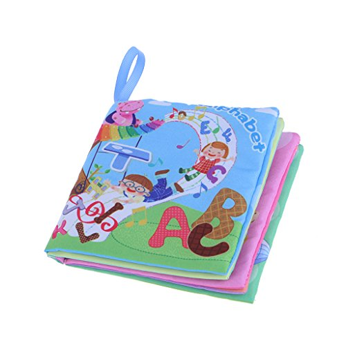 (EA-STONE Cloth Book For Baby Kids Intelligence Development Educational Funny Book Learning Toys)