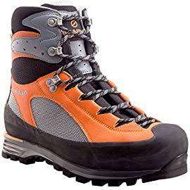 Scarpa Men's Charmoz Mountaineering Boot, Shark/Orange