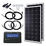 Komaes 200 Watts 12 Volts Monocrystalline Solar Starter Kit KOMAES Solar Power And Accessories