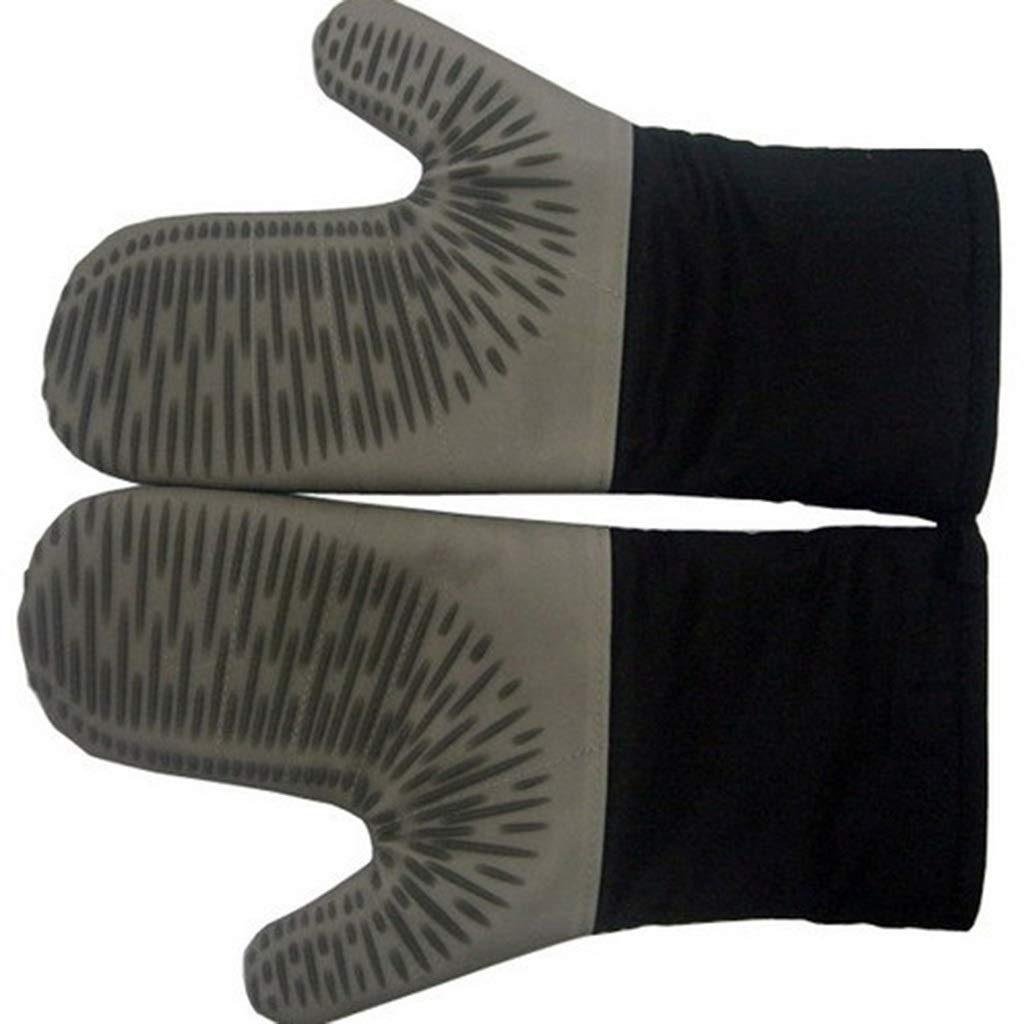 Kitchen High Temperature Resistant Gloves 100% Cotton Home Oven Anti-hot Gloves