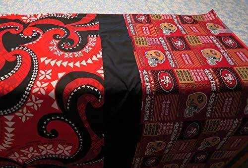 San Francisco 49ers Sports Theme - lavalava ('ie) Hawaiian Polynesian wrap, pareu, loincloth, tablecloth, banner, skirt -Made in Hawaii- FREE SHIPPING]()