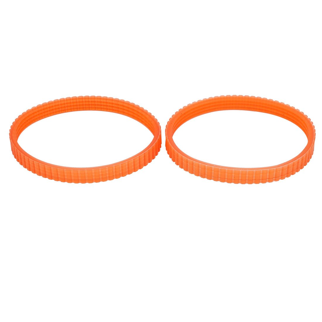 sourcingmap 2pcs 268mm Girth Rubber PU Double Sided Multi Timing Belt Orange a16041500ux0781
