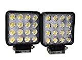 "SiteLites 4"" LED Light, 2 Pack 48W 3000LM 60° AMBER FOG LED Flood Lights for Off-Road and Outdoor Applications"