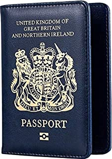 British UK Passport ID Card Holder Protector Cover Wallet Leather Cover Cheap