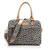Soter® Leopard with handle Style Canvas Fabric Laptop /Notebook Computer /Notebook/ Macbook / Ipad/tablet/ Macbook Pro / Macbook Air Sleeve Case Bag Cover Handbag (13 inch, white Leopard)
