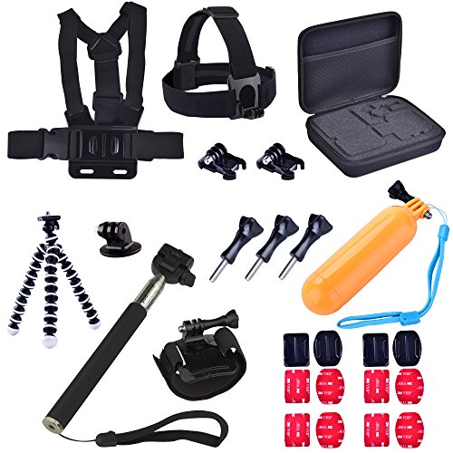 Harness Protective Case (Idaye® 26-in-1 Accessories Kit for Gopro Hero 4, Hero HD 3+/3/2/1 Camera, Including Protective Case+Mount for chest harness +Floating handle tripod+Wrist Mount+head strap and)