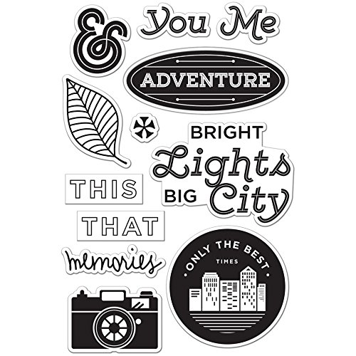 Hero Arts CL794 Basic Grey Second City Clear Stamps By Hero Arts-Bright Lights