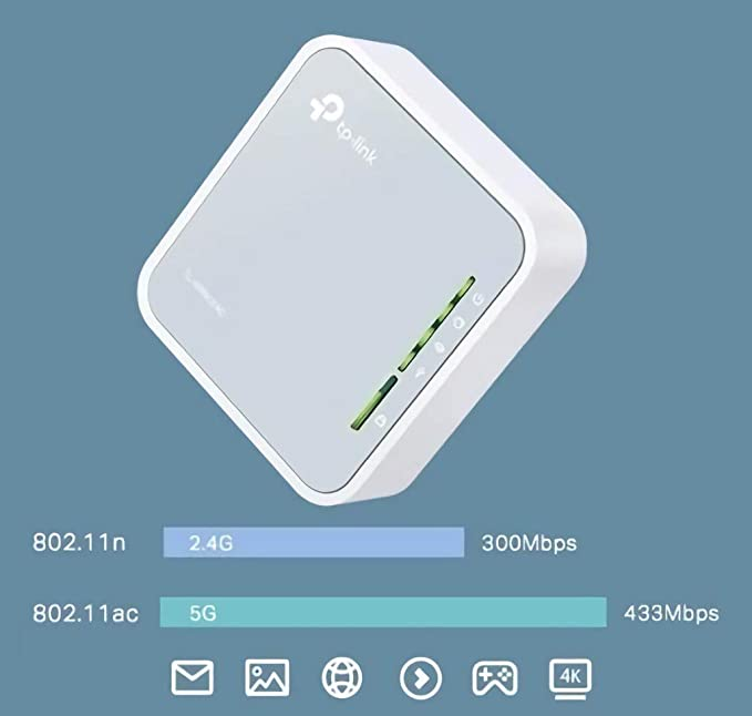 TXYFYP Enrutador Hotspot M/óVil 4G LTE,Enrutador M/óVil para Autom/óVil,Wi-Fi Port/áTil para Viajes,Hotspot De Banda Ancha M/óVil con 4G LTE S/úPer R/áPido,WiFi Port/áTil para Autom/óVil Desbloqueado