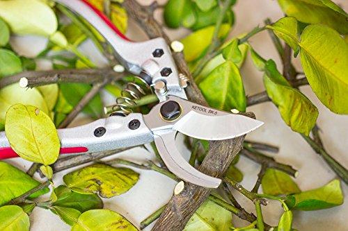 Bypass Pruning Shears Heavy Duty Hand Garden Scissors Professional Trimmer Secateurs,Carbon Steel SK5 Blade