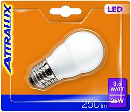Attralux Bombilla LED ahorro energético A+ E27, 3.5 W