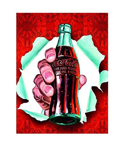 Ecool Coke Cola Retro - Placa de Metal para Nevera, diseño Vintage ...