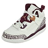 Jordan Spizike GP Preschool Basketball Shoes Sail/Bordeaux/Metallic Red Bronze 535708-132 (1 M US)