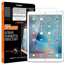 """iPad Pro Screen Protector, Spigen® [Tempered Glass] [12.9 inch] iPad Pro 12.9"""" [New 2017] [2015] Glass Screen Protector"""