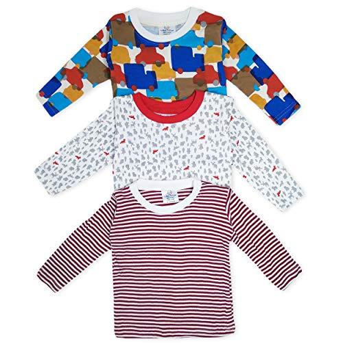 The Boo Boo Club Kids Soft Cotton Full Sleeve Multicolour T-Shirt, Mix Print