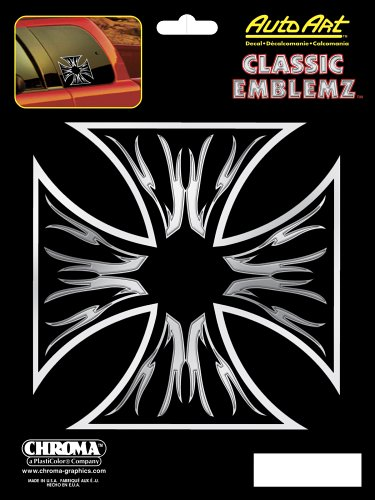 Chroma Graphics Maltese Cross Classic Emblemz Decal ()