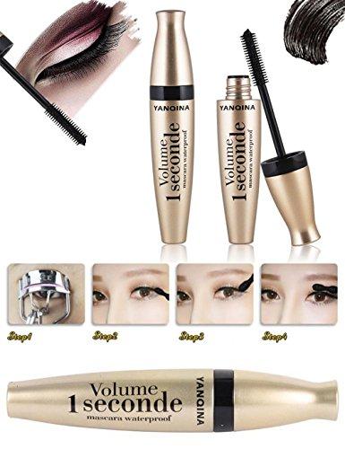 Lashes Mascara, Very Black Color, Volumizing Mascara, Hypoallergenic,Amplifying Mascara Brush, For All Eye Colors & Skin Tones