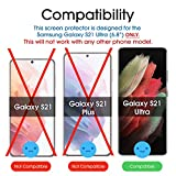 (2 Pack) amFilm 3D Curved Tempered Glass Screen