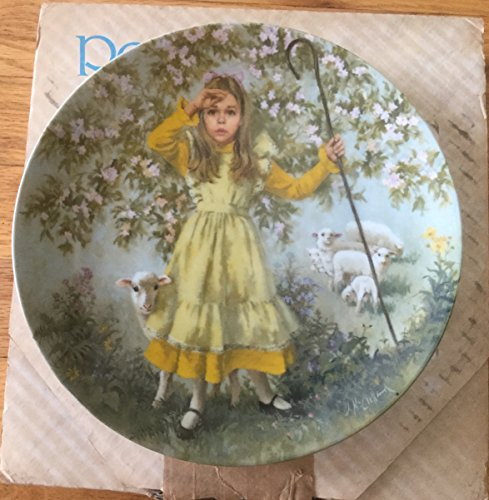 """Mother Goose """"Little Bo Peep"""" Collector Plate by John McClelland with Certificate of Authenticity"""