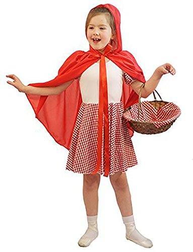 World Book Day-Fairytale LITTLE RED RIDING HOOD with WHITE BODICE & SKIRT Costume - All Ages (TEEN)]()