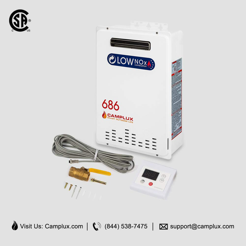 Camplux Pro 26L 6.86 GPM Outdoor Natural Gas Tankless Water Heater