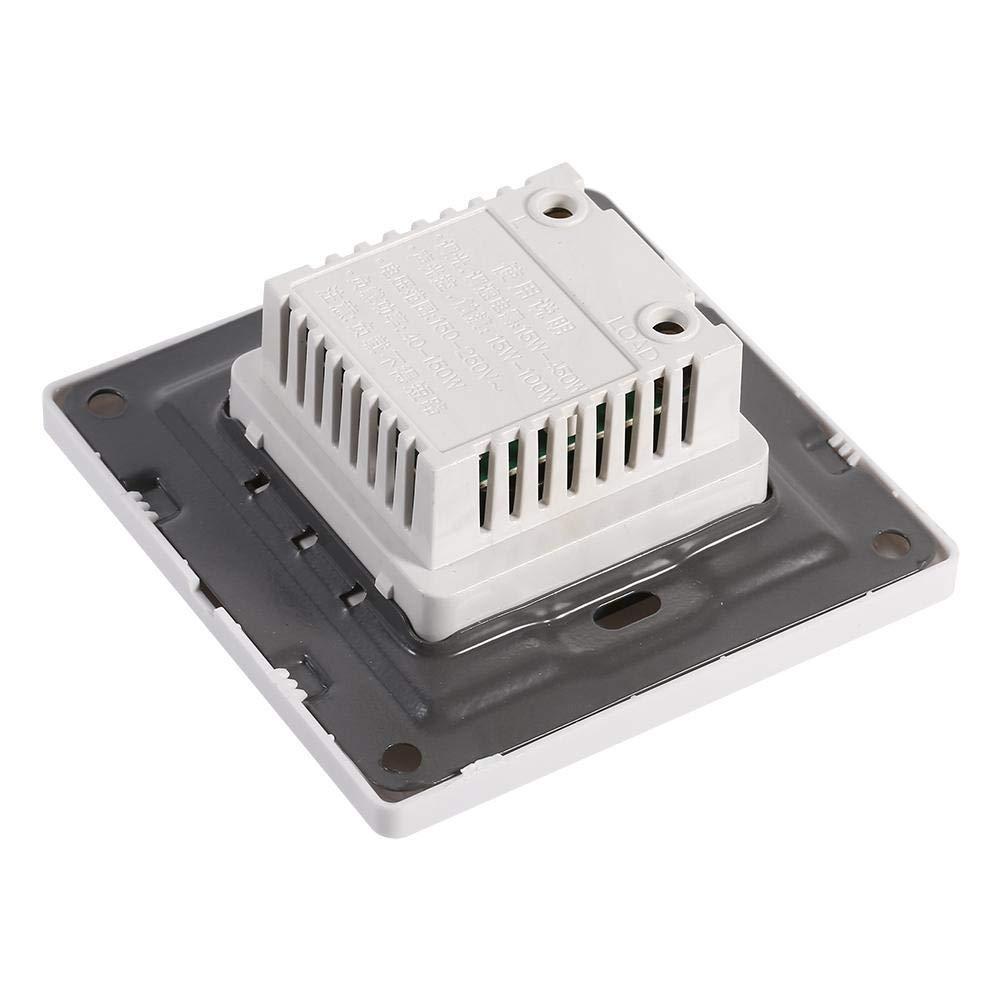 GLOGLOW 1pcs Mur mont/é Bouton Rotatif Lampe luminosit/é contr/ôleur Panneau gradateur commutateur