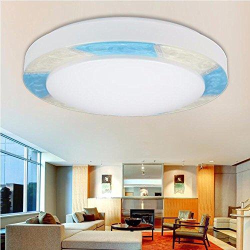 LighSCH Plafonnier La simplicité moderne acrylique Led Le salon chambre à coucher,Lampes 30W Bleu diamètre41cm